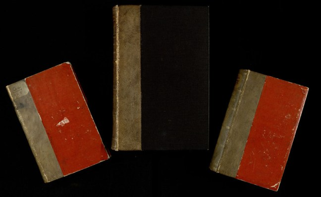 Proven anthropodermic books from the Mutter Museum collection. Photo courtesy of the Historic Medical Library of The College of Physicians of Philadelphia